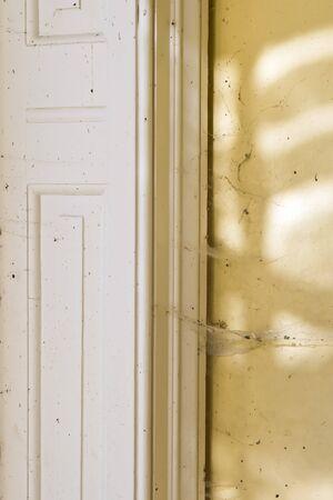 cobwebs: Dust and cobwebs inside a derelcit house