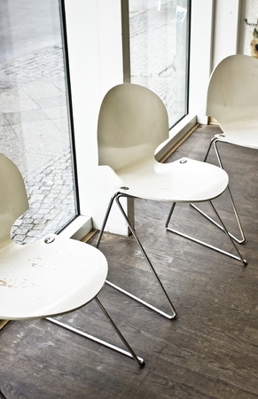 public building: Modern chairs in a public building