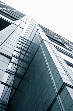 Part of a modern urban building in Germany Stock Photo