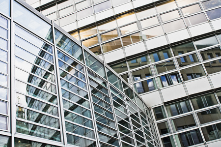 Part of a modern office building in Germany Stock Photo