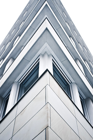acute angle: The corner of a modern multi-storey building in Germany
