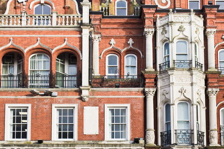 edwardian: The exterior of a red brick building in Ipswich, UK