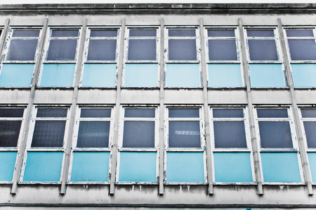 Part of a derelict office building in the UK