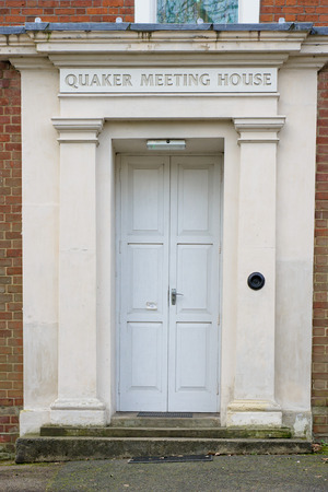 quaker: IPSWICH, UK - JANUARY 18 2016: The entrance to a Quaker meeting house on Fonnereau Road