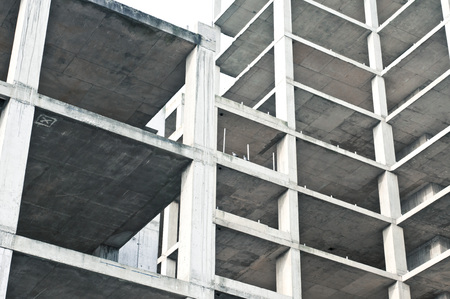 property development: A multi-storey building during construction in the UK Stock Photo