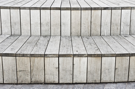 timber bench seat: A modern structure formed from wooden panels