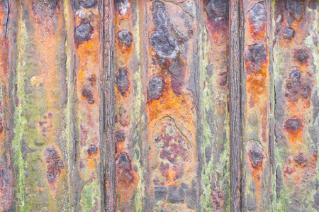 Part of a metal surface showing severe rust Stock Photo