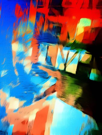 vibrant: A digital abstract painting in punch vibrant tones