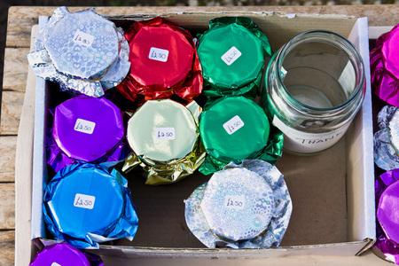 preserves: Jars of home made preserves for sale