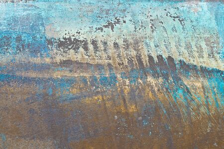 oxidized: A rusted metal sheet as a background Stock Photo