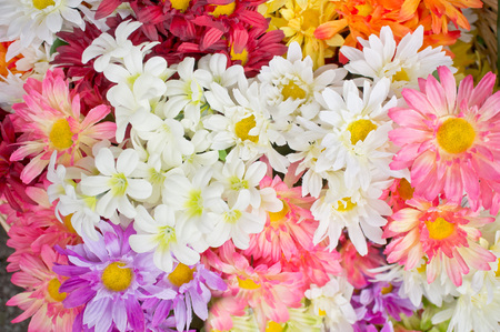 synthetic: Synthetic flowers as a background image