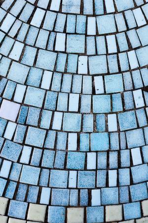 ceramica: Un fondo de azulejos en tonos de azul Foto de archivo