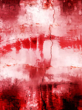 haemorrhage: A digital abstract painting in shades of red Stock Photo