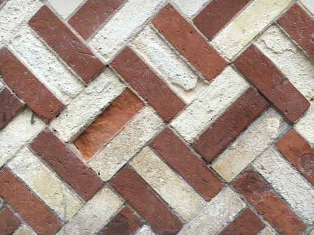 criss: Part of a brick wall with an unusual pattern ONSS