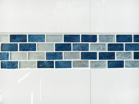 piastrelle del bagno decorativi lucida come uno sfondo