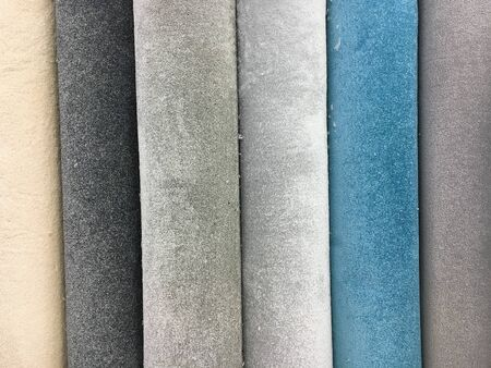 homeware: Rolls of new carpet in a store