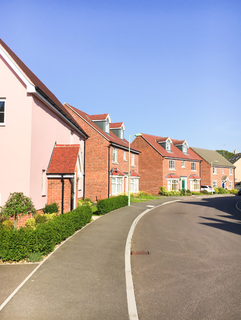 new build: New build houses in Bury St Edmunds, UK