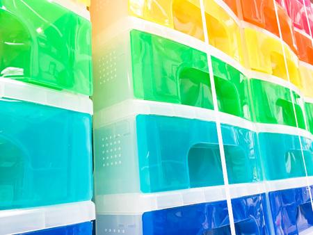 storage: Colorful plastic storage units