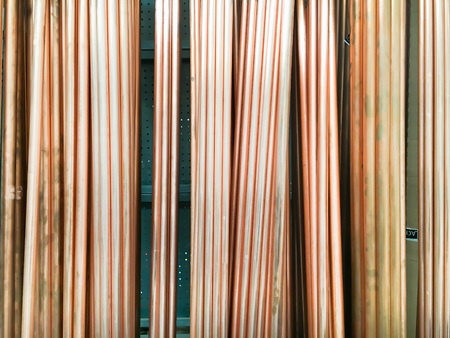 cuprite: New metal pipes for plumbing in a store