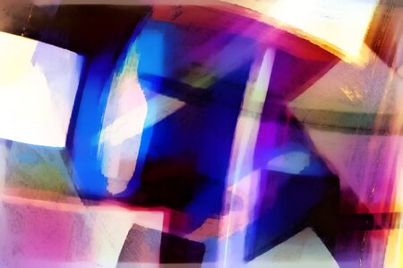 tones: An abstract digital painting with purple and blue tones Stock Photo