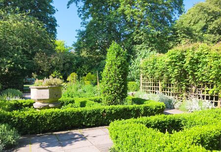 landscaped garden: Part a landscaped garden the UK Stock Photo