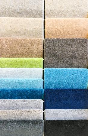 homeware: Rolls of new carpet in a homeware store
