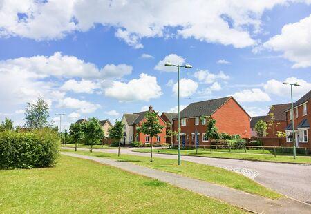 suburbian: A modern housing area in Bury St Edmunds, UK Stock Photo