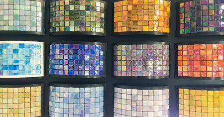 homeware: Colorful decorative interior tiles in a shop
