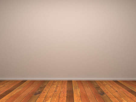 Empty room with wood parquet Stock Photo