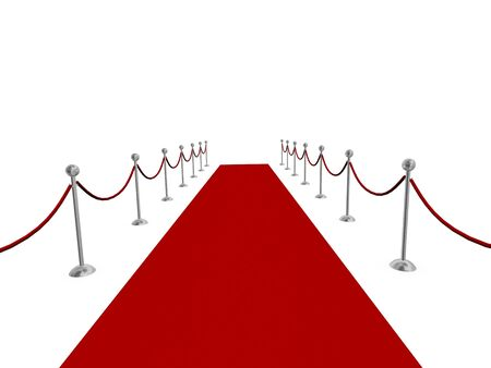 Red carpet rotolato in distanza