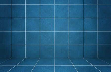 Interior blue marble tiled wall with shadows  photo