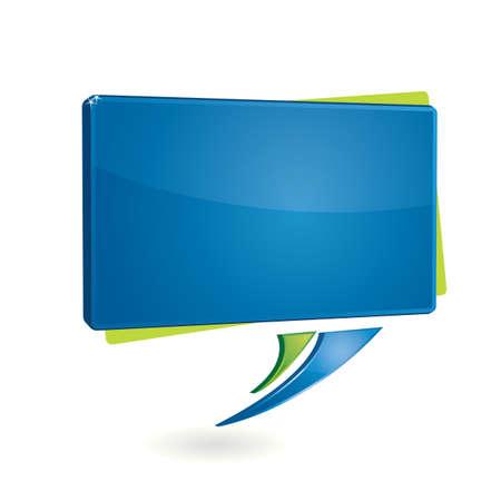 Modern rectangular messagge balloon