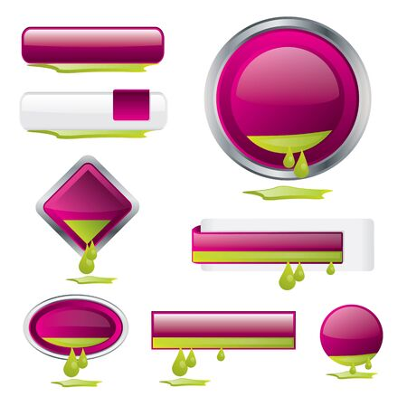 buttons with ink Stock Vector - 11149162