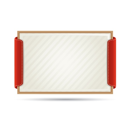Elegant paper card  diploma in wood frame