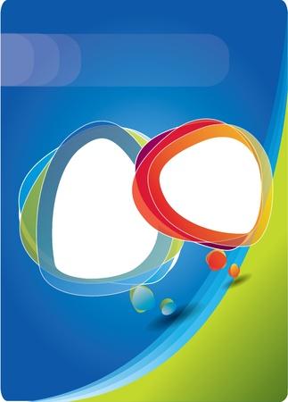 fedő: Vector fedelet összetétele színes rakhatja