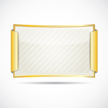 gold bars: Gold diploma  paper card in gold frame