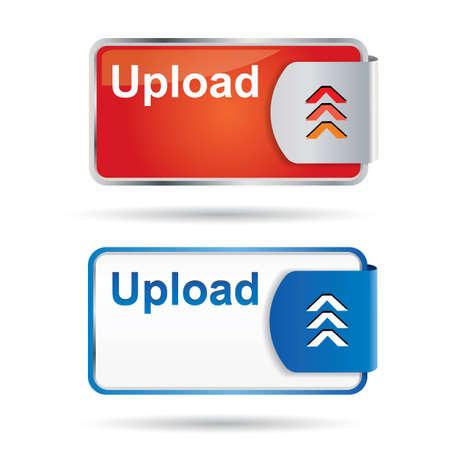 web2: Web2 upload button with reflection and icon