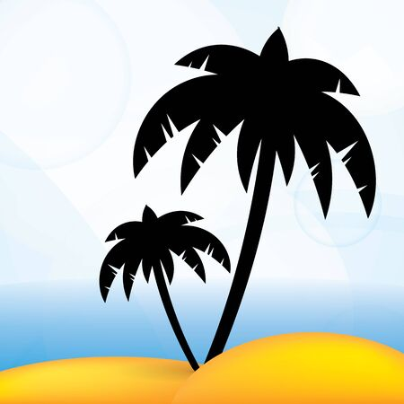 Tropical summer vector background