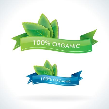 100  organic emblems   labels Illustration