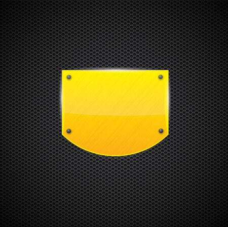 Polished yellow metal plate  Illustration
