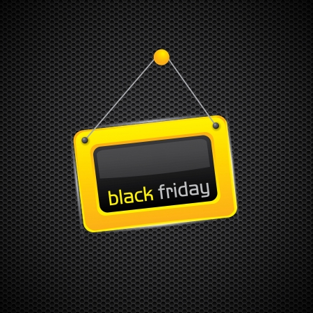 Black Friday glossy yellow sign