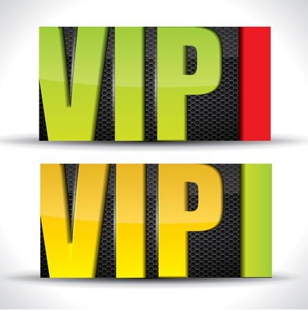 Vip card - vector
