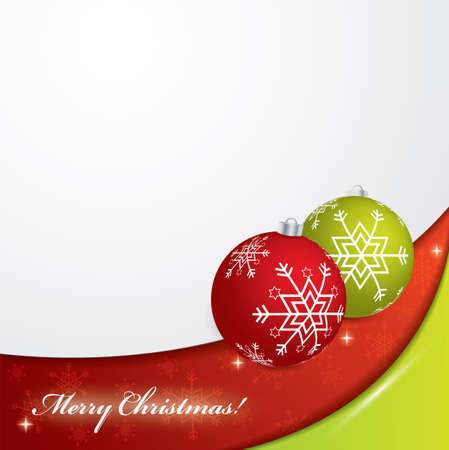 Christmas background - red and green colors