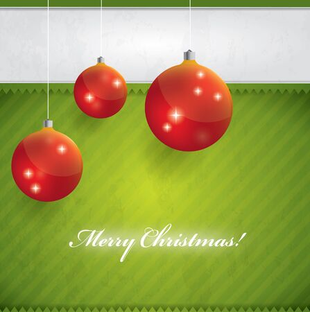 Christmas decorative background - green and red
