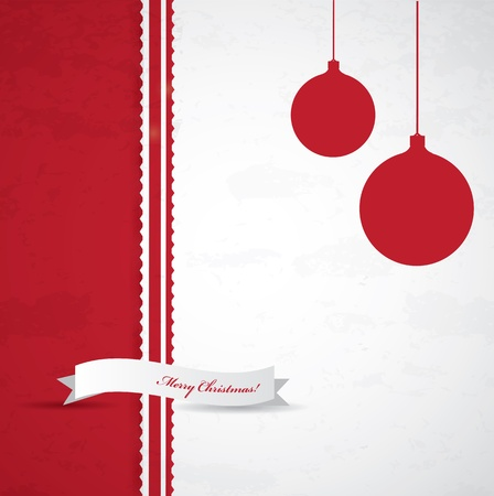 Simple Christmas background with label Stock Vector - 16857811