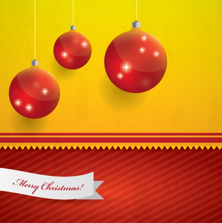 Yellow and red Christmas vector background Stock Vector - 16857814
