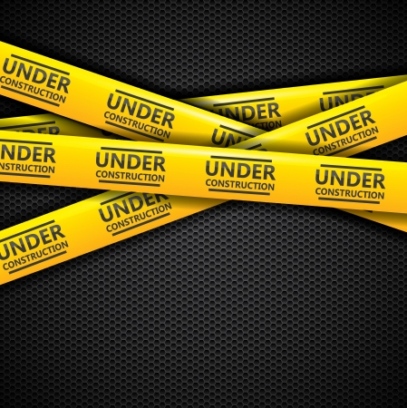 web page under construction: Under construction  caution tapes Illustration
