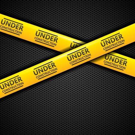 under construction: Under construction caution tapes  Illustration