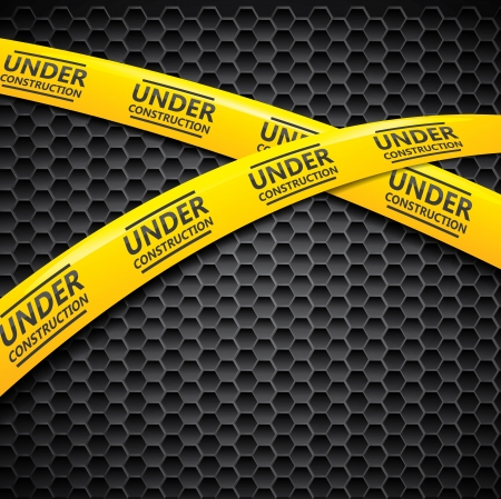 Under construction caution tape  Vector