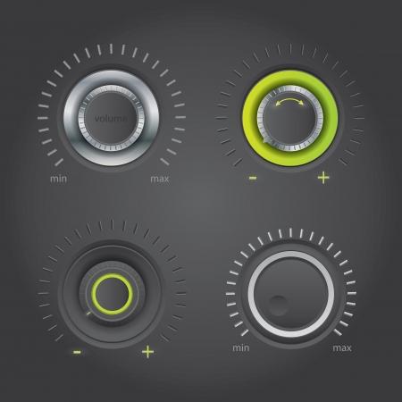 Dark volume knob set